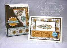 Gently Falling Set SUO, Fall Card Set by krissiestamps - Cards and Paper Crafts at Splitcoaststampers