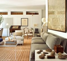 BRUCE BUDD | Mark D. Sikes: Chic People, Glamorous Places, Stylish Things Gray velvet couch