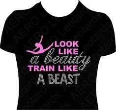 Gymnastics GYMNAST Glitter Tshirt Gymnastic Shirt by AEROLeotards, $24.95