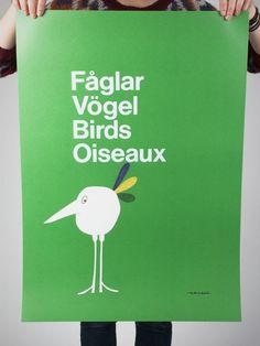 Fåglar Poster (50x70cm) by Olle Eksell