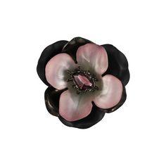 Dark Garden Gunmetal Layered Flower Pin