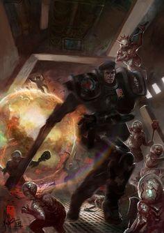 Imperial Doomtrooper against Dark Legion