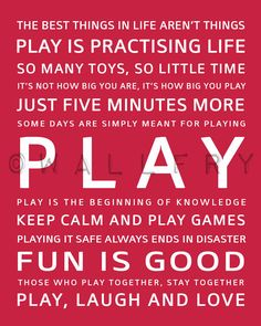 PLAY!  Playing, having fun, is as critical to our health as healing well.