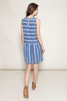 @aceandjig Rally Frock in Blue Jean at @shopethica