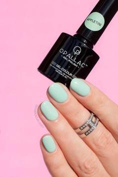 Pretty gel nails feat. Opallac Appletini gel polish || Mint Nails