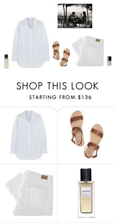 """Untitled #44"" by klinds ❤ liked on Polyvore featuring Equipment, Ancient Greek Sandals, Paige Denim and Chanel"