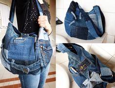 Jeans Patchwork Bag by ajnataya.deviantart.com on @deviantART