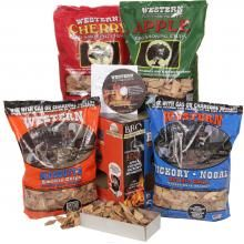 Adds an authentic smoke flavor to any meal. Western Variety Pack BBQ Smoking Chips. #BBQGuys