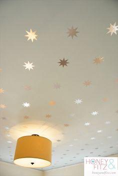 Kids Wallpaper. Starry Wallpaper for your ceiling. #kidsrooms #kidswallpaper