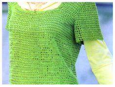 Delicadezas en crochet Gabriela: Remera paso a paso