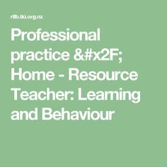 Professional practice & Home - Resource Teacher: Learning and Behaviour Resource Teacher, Teacher Resources, Reflective Practice, Behavior, Math, Learning, Behance, Math Resources, Studying