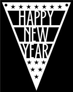 Happy New Year Pennant by Bird