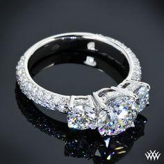 Custom Platinum 3 Stone Diamond Engagement Ring! Wow!
