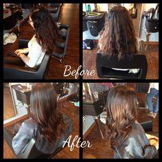 Beautiful rich brunette with caramel tones and long layered haircut @ranwyee @sevvamke by Araceli Rothfelder