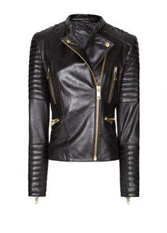 MANGO - Lleather biker jacket