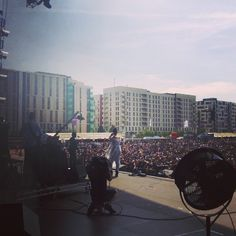 Jessie Ware playing at Wireless Festival 2014 from backstage :) #live #music #london