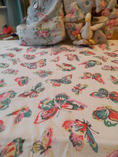 BN Cath Kidston Haberdashery Cotton Remnant In Butterfly For Crafts/Quilting Etc