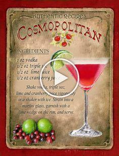 Cosmopolitan Cocktail #ManhattanCocktail