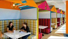 Not as colorful but similar along basement hallway  Google's Sydney Office
