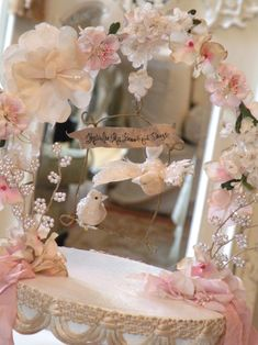 .This would be so cute around Sophie's mirror in her shabby chic room