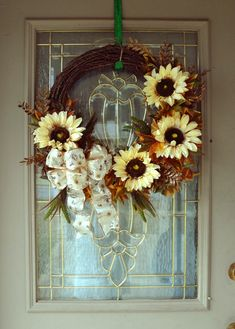 Sunflower Wreath for Front Door, Thanksgiving Wreath, Farmhouse Style Wreath, Grapevine Wreath, Housewarming Gift, Floral Front Door Wreath Fall Mesh Wreaths, Wreaths For Sale, Autumn Wreaths, Wreaths For Front Door, Door Wreaths, Grapevine Wreath, Thanksgiving Wreaths, Christmas Wreaths, Thanksgiving Decorations
