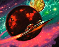 Frank Kelly Freas - Deeper Than Darkness, 1970. / The Science Fiction Gallery
