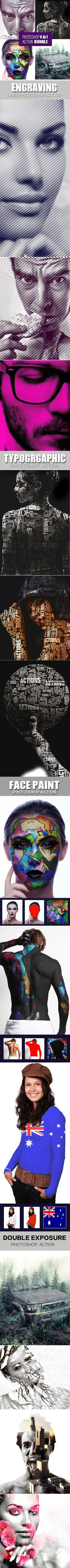 Photoshop 4 in 1 Actions Bundle