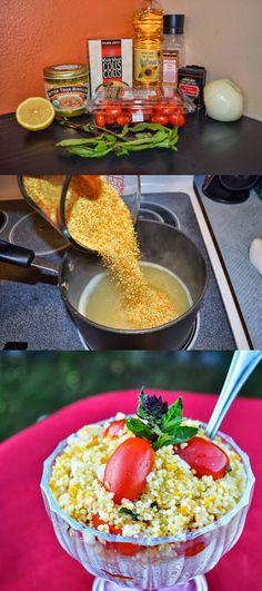 Lea's Cooking: Tomato Basil Couscous Salad