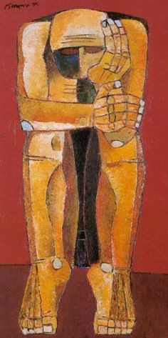 Troubled man by Ang Kiukok Davao, Vince Low, Entryway Art, Filipino Art, Philippine Art, Famous Artwork, Watercolor Landscape Paintings, A Level Art, Global Art