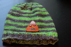 Knit Baby Hat / Monster Applique / Monster by LeosLovelyTreasures, $25.00