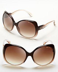 Jimmy Choo Squared Oversized Dahlia Sunglasses | Bloomingdale's