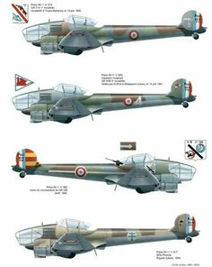 Potez 63.11.variants Air Force Aircraft, Ww2 Aircraft, Fighter Aircraft, Military Aircraft, Fighter Jets, Fighting Plane, Plane Drawing, French Colors, Aircraft Painting