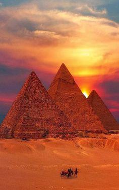 Atardecer en Egipto.