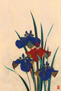 Sugiura Kazutoshi (1938-) 杉浦和利  Iris No.41 花菖蒲No41、1983