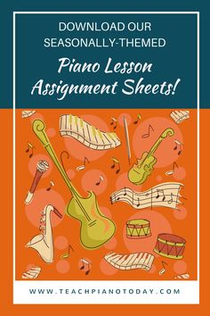 FREE! Write your piano lesson notes on something your students will WANT to read :)
