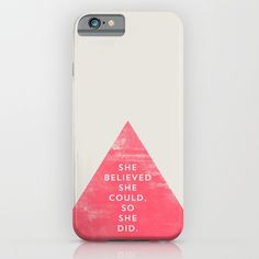 SHE BELIEVED SHE COULD SO SHE DID - TRIANGLE iPhone & iPod Case