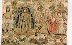 Stuart stumpwork - Solomon greeting the Queen of Sheba