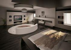 Feel the #Scarface design that soaks it all in  #SayHellotomyLittleFriend #TorontoLuxury #InteriorDesign #Modern #Bathtub