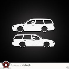 (830) 2x Low and Slow VW Golf 4 Variant Sticker Aufkleber VAG Stickerbomb R32