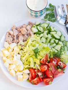 {Tuna Cobb Salad} It keeps you feeling filled, but light at the same. The best feeling ever!