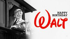 Today, December 5, its the Walter Elias Disney, known as Walt Disney, 111 Anniversary (1901-1966). I think Walt Disney is an Admirable person for the way he thougt and because he left a Great Legacy, that now a days its one of the best studios in the world and The Company with Specialty of Story-Telling. Happy Birthday Walt!!!!