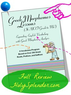 Greek vocabulary study program #review - It's NOT Greek to Me! by Ready to Teach #TOScrew #hsmamas
