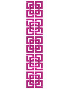Muur Stencil (sjabloon): Dit is mooi gedetailleerd en zou erg mooi staan op een accent muur.