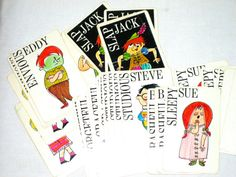 Vintage Slap Jack playing cards by Whitman by sweetalicelovesyou