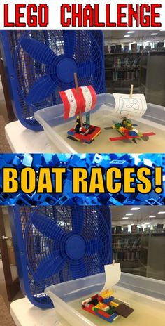 Lego Club Idea for Libraries--Build boats out of Legos and R Indoor Activities, Summer Activities, Toddler Activities, Stem Activities, Indoor Games, Family Activities, Lego Club, Legos, Lego Boat