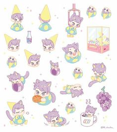 Exo Stickers, Exo Fan, Cute Teddy Bears, Kpop Fanart, Drawing Reference, Doodle Art, Paper Art, Chibi, Doodles
