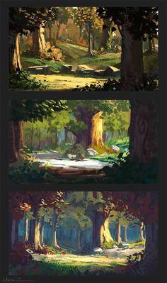 50 Ideas landscape concept art tutorial design illustrations for 2020 Concept Art Landscape, Fantasy Landscape, Landscape Art, Fantasy Concept Art, Game Concept Art, Fantasy Artwork, Digital Art Fantasy, Disney Concept Art, Landscape Design