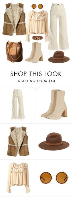 """Sin título #1870"" by mussedechocolate ❤ liked on Polyvore featuring Rachel Comey, Topshop, Hollister Co., rag & bone, See by Chloé, Quay and Gucci"