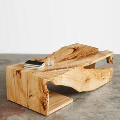 American elm single slab multi fold coffee table #UrbanHardwoods #SalvagedWood