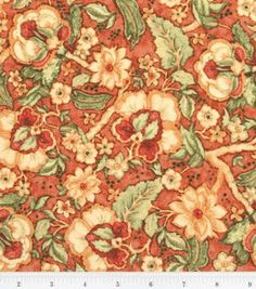 Susan Winget Fabric- Welcome Garden Floral Vine Orange : fabric :  Shop | Joann.com